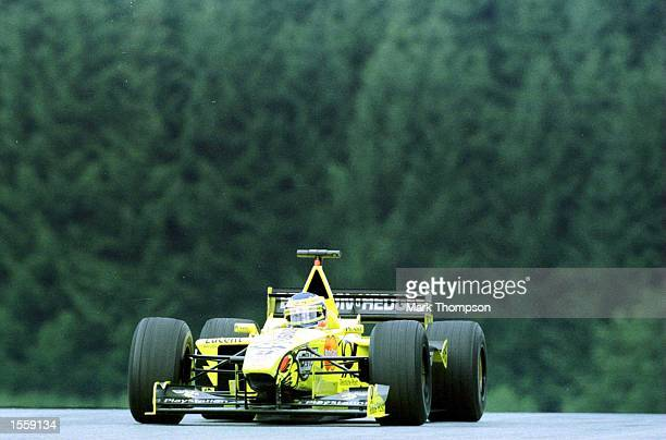 Jarno Trulli of Jordan and Italy in the Jordan EJ10 Mugen Honda during a practice session before Qualifying for the Formula One Austrian Grand Prix...