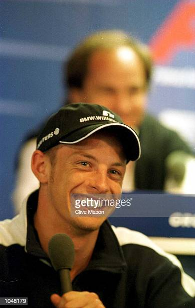 Jenson Button of Wiliams and England during a press conference after both practice sessions for the Formula One Austrian Grand Prix at the A1 ring in...