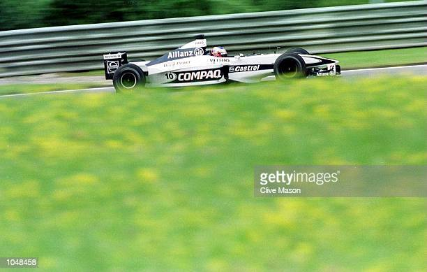 Jenson Button of Williams and England in the Williams FW22 BMW during Qualifying for the Formula One Austrian Grand Prix at the A1 ring in Spielberg...
