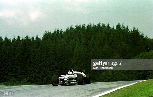 Jenson Button of Williams and England in the Williams FW22 BMW during a practice session before Qualifying for the Formula One Austrian Grand Prix at...