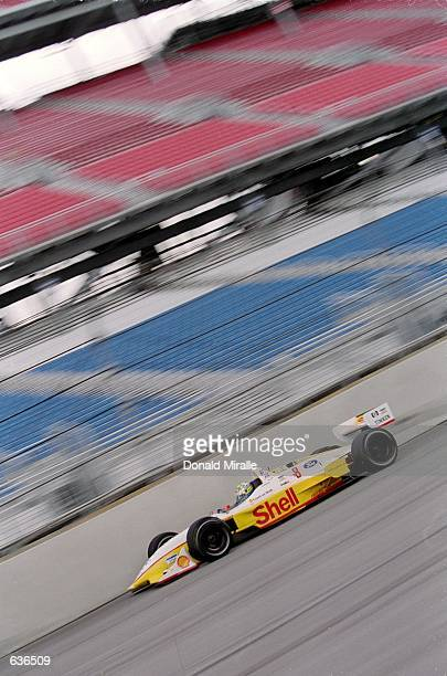 Kenny Brack of Sweden who drives the Ford Reynard 2KI for Team Rahal speeds around the track during the Target Grand Prix of Chicago part of the...