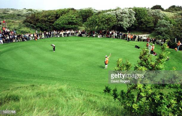 Lee Westwood of England three putts on the third green during the Dutch Open at Noordwijkse Golf club Noordwijk Netherlands Mandatory Credit David...