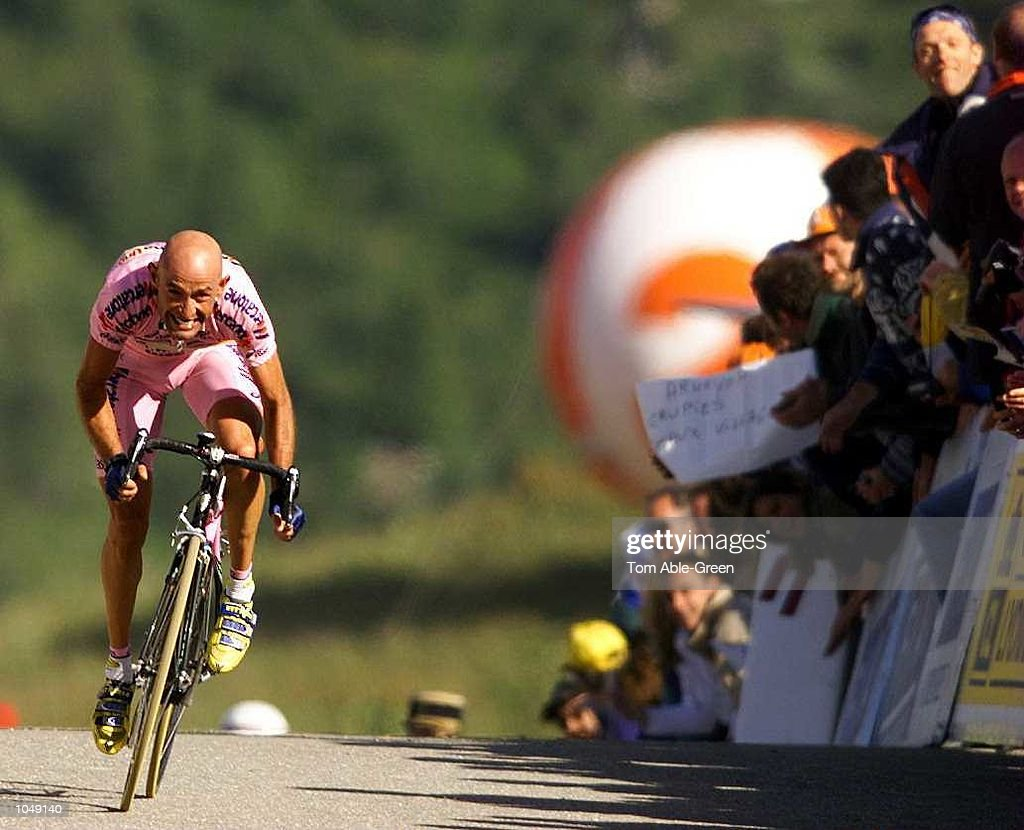 Marco Pantani of Italy and the Mercatone-Uno team climbs to the finish to win Stage 15 between Briancon-Courchevel during the 2000 Tour De France, France. Mandatory Credit: Tom Able-Green/ALLSPORT