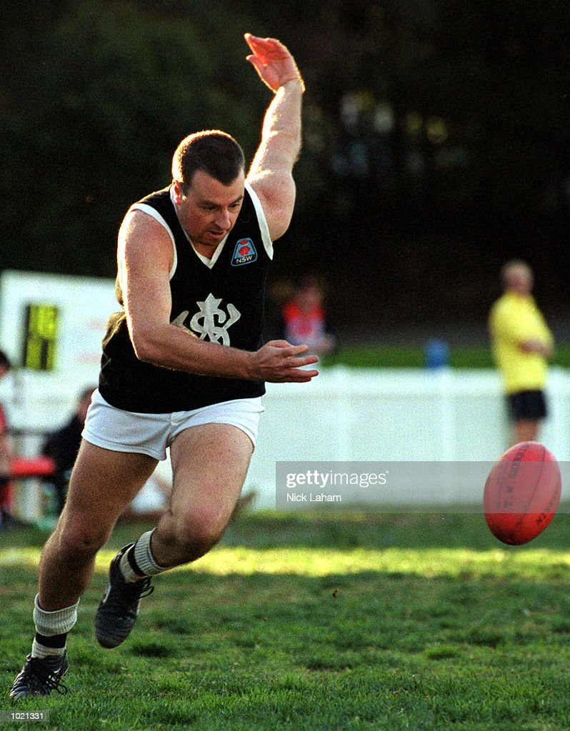 Paul Casey #5 for Western Suburbs in action during the Sydney AFL match between North Shore Bombers v Western Suburbs Magpies at Gore Hill Oval, Sydney, Australia. North Shore defeated Western Suburbs 19.11.125 to 6.5.41. Mandatory Credit:Nick Laham/ALLSPORT