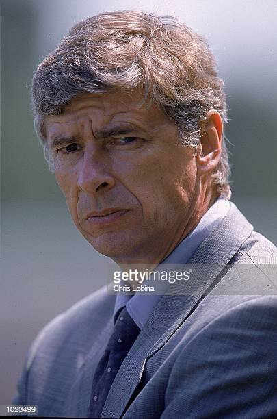 Portrait of Arsene Wenger the Arsenal Manager during the PreSeason Friendly match against Barnet at the Underhill Stadium in Barnet London Arsenal...