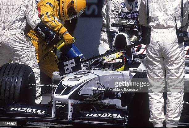 Ralf Schumacher of Germany and WilliamsBMW in a Pit Stop during the Austrian Formula One Grand Prix at the A1 Ring in Spielberg Austria Mandatory...