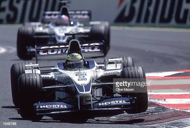 Ralf Schumacher of Germany and WilliamsBMW in action during the French Formula One Grand Prix at MagnyCours in France Mandatory Credit Clive Mason...