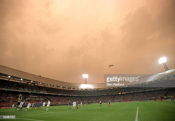The De Kuip Stadium in Rotterdam during the European Championships 2000 Final between France and Italy at the De Kuip stadium Rotterdam Holland...