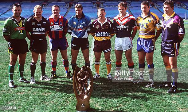 The eight NRL finals captains Laurie Daley Steve Carter Tony Butterfield Andrew Ettinghausen Kevin Walters Brad Fittler Nathan Hindmarsh and Robby...