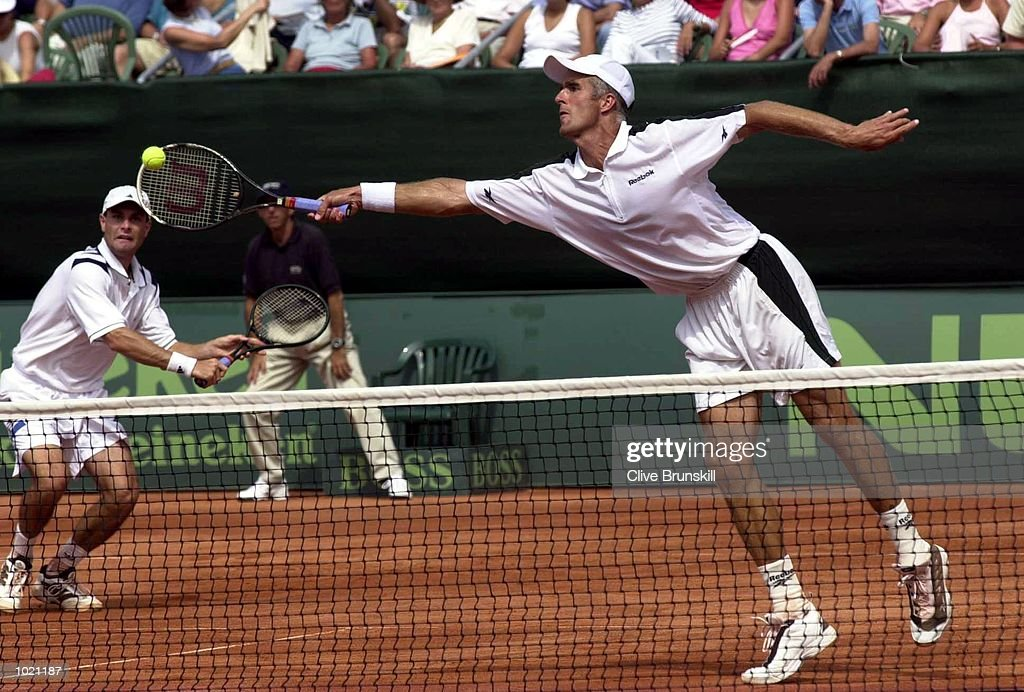 Todd Martin and Chris Woodruff of the USA in action during the doubles and third rubber against Alex Corretja and Juan Balcells of Spain in the Davis Cup semi-final between the USA and Spain in Santander, Spain. Mandatory Credit: Clive Brunskill/ALLSPORT