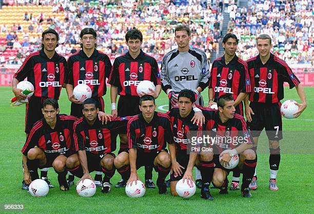 AC Milan team group before the preseason friendly tournament match against Ajax played at the Amsterdam ArenA in Amsterdam Holland AC Milan won the...