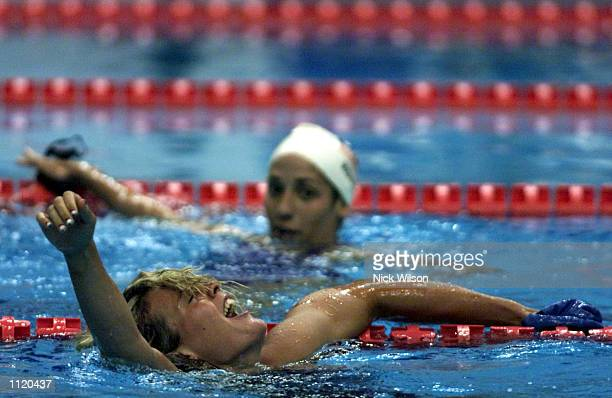 Agnes Kovacs of Hungary after winning gold in the Womens 200m Breaststroke Final held in the Marine Messe Pool during the World Swimming...