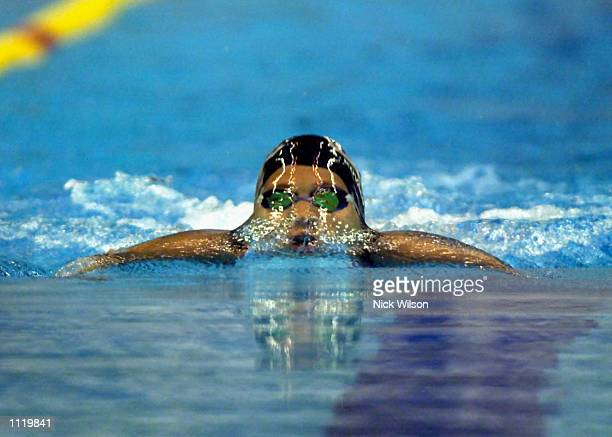 Agnes Kovacs of Hungary in action in the Womens 100m Breaststroke heats at the Marine Messe Pool during the World Swimming Championships, Fukuoka,...