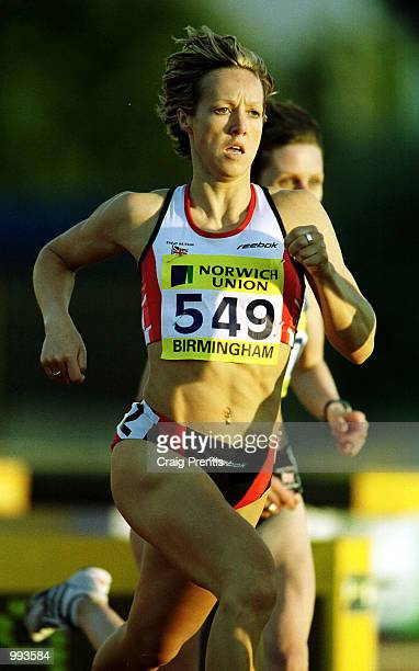 Allison Curbishley of Edinburgh during the 800m womens heats at the Norwich Union World Championship Trials AAA Championships held at the Alexander...