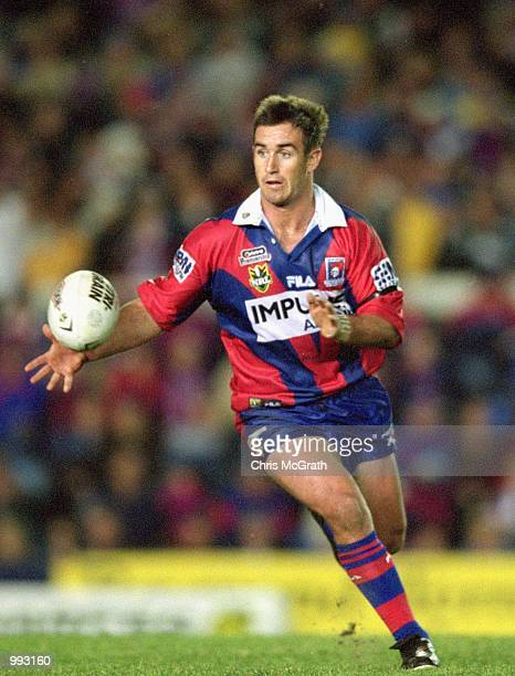 Andrew Johns for Newcastle in action during round 18 of the NRL season played between the Newcastle Knights and the Brisbane Broncos held at Marathon...