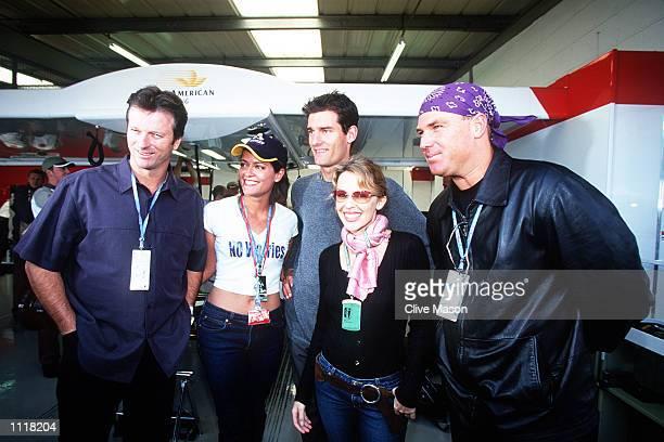 Australian cricket captain Steve Waugh commentator Amanda Stretton Benetton Test Driver Mark Webber popstar Kylie Minogue and Australian cricketer...