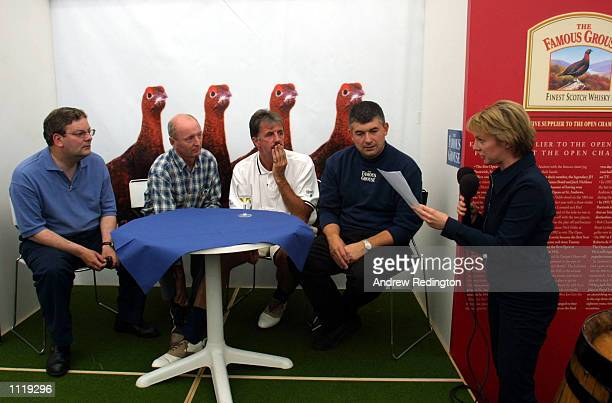 BBC Commentator Hazel Irvine asks the questions to Angus Loughran Jasper Carrott Mark Lawrenceson and John Parrot during a Question of Sport...