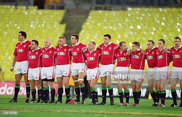 British Lions team lineup before the Third Test Match against Australia played at Stadium Australia in Sydney Australia Australia won the match 2923...