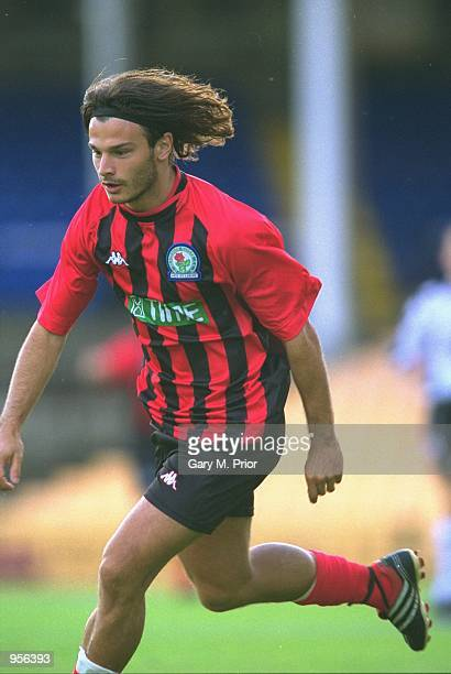 Corrado Grabbi of Blackburn Rovers in action during the preseason friendly match against Port Vale played at Vale Park in StokeonTrent England...