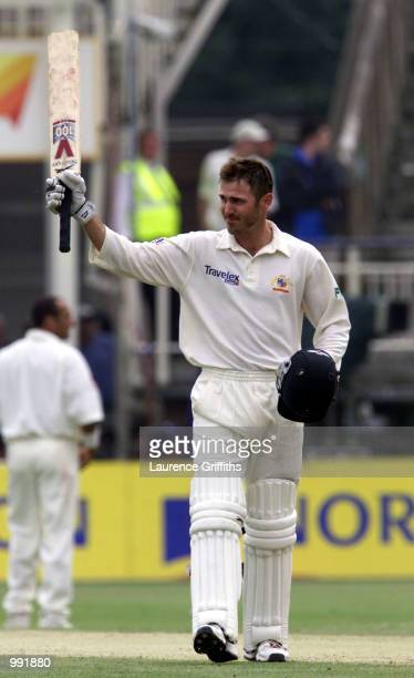 Damien Martyn of Austalia celebrates his century during the 3rd day of the npower Ashes first test match between England v Australia at Edgbaston...