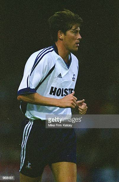 Darren Anderton of Tottenham Hotspur in action during the pre-season friendly match against Stevenage Borough played at Broadhall Way, in Stevenage,...