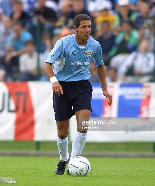 Diego Simeone of Lazio in action during the preseason friendly between Cittadella and Lazio DIGITAL IMAGE Mandatory Credit Grazia Neri/ALLSPORT