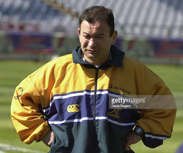 Eddie Jones the Australian coach of the Australian team during training at Loftus Verfeld Pretoria South Africa DIGITAL IMAGE Mandatory Credit Dave...