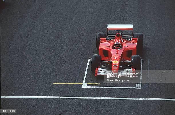Ferrari driver Michael Schumacher on pole position for the Formula One British Grand Prix at Silverstone in England Mandatory Credit Mark...