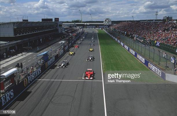 General view of the Starting Grid before the start of the Formula One British Grand Prix held at Silverstone Race Track in Northampton England...