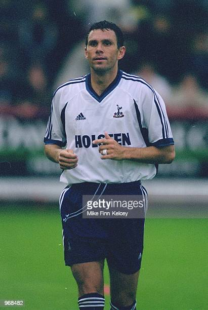 Gustavo Poyet of Tottenham Hotspur in action during the pre-season friendly match against Stevenage Borough played at Broadhall Way, in Stevenage,...