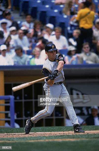 Jack Wilson of the Pittsburgh Pirates at bat during the game against the Chicago White Sox at Comiskey Park in Chicago Illinois The White Sox...