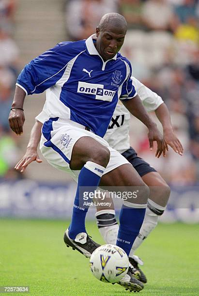 Kevin Campbell of Everton in action during the Preseason Friendly match against Preston North End played at Deepdale in Preston England Mandatory...