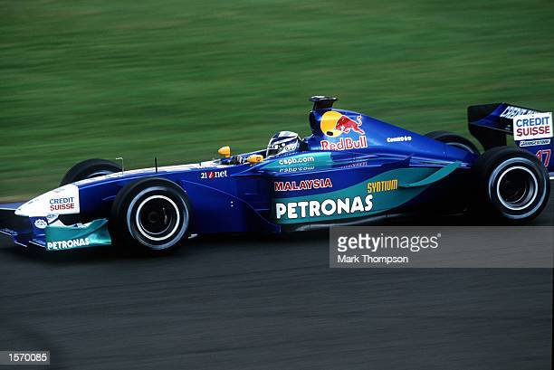 Kimi Raikkonen of Sauber and Germany in action during the Formula One British Grand Prix at Silverstone England Mandatory Credit Mark...
