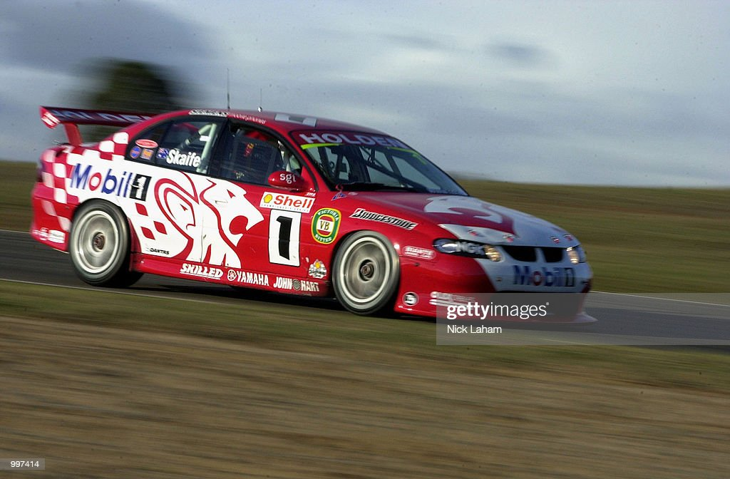 Mark Skaife drives his way to victory in race 2 and overall victory of the round 8 Shell Championship Series held at Oran Park race track Sydney, Australia. DIGITAL IMAGE Mandatory Credit: Nick Laham/ALLSPORT