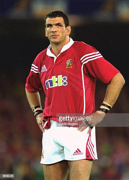 Martin Johnson of the British Lions during the 2nd Test Match against Australia at the Colonial Stadium in Melbourne Australia Mandatory Credit Dave...