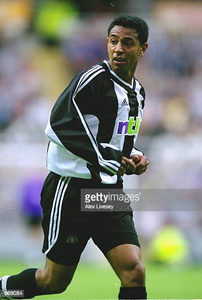 Nolberto Solano of Newcastle United in action during the UEFA Inter-Toto Cup match against Sporting Lokeren played at St James Park, in Newcastle,...