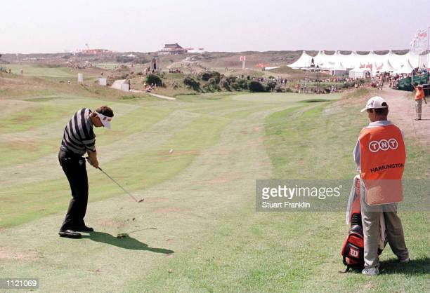 Padraig Harrington of Ireland plays a shot on the 8th fairway during the third round of the TNT Dutch Open in Noordwijkse Holland Mandatory Credit...