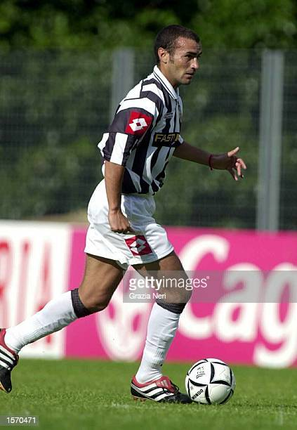 Paolo Montero of Juventus in action during the preseason friendly between Val D''Aosta and Juventus DIGITAL IMAGE Mandatory Credit Grazia...