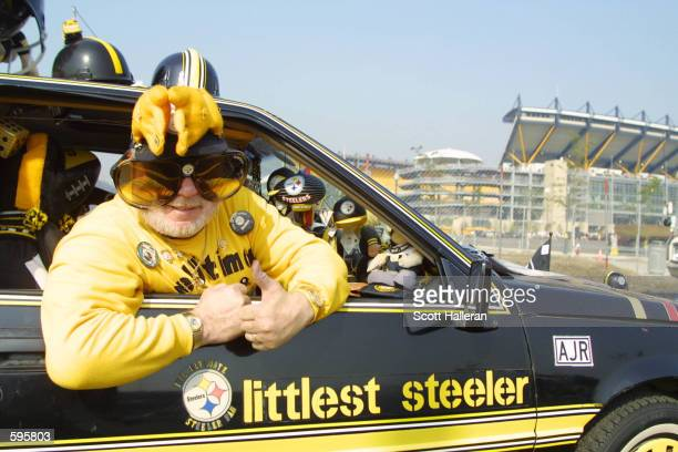 Pittsburgh Steeler fans prepare for the first game to be played with the Detroit Lions at Heintz Field in Pittsburgh Pennsylvania The Steelers...
