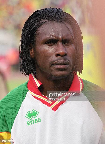 Portrait of Aliou Cisse of Senegal prior to the FIFA 2002 World Cup Qualifyng match against Morocco played at the Stade Leopold Sedar Senghor in...
