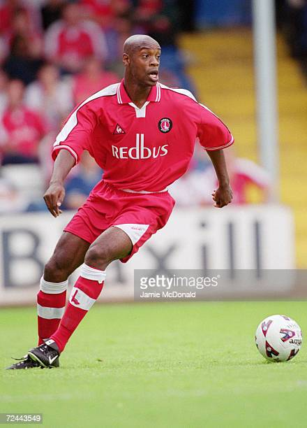 Richard Rufus of Charlton Athletic on the ball during the preseason friendly against Colchester United at Layer Road in Colchester England Mandatory...