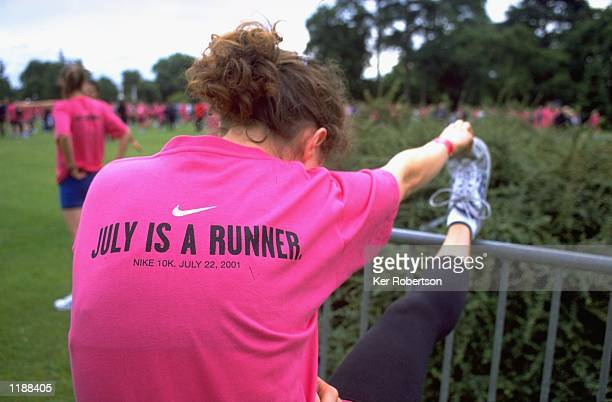 Runners take part in the Nike 10K Run at Kew Gardens in London Mandatory Credit Ker Robertson /Allsport
