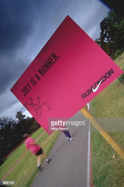Runners take part in the Nike 10K Run at Kew Gardens in London Mandatory Credit Mike Hewitt /Allsport