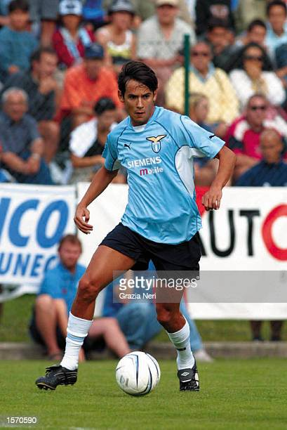 Simone Inzaghi of Lazio in action during the preseason friendly between Cittadella and Lazio DIGITAL IMAGE Mandatory Credit Grazia Neri/ALLSPORT