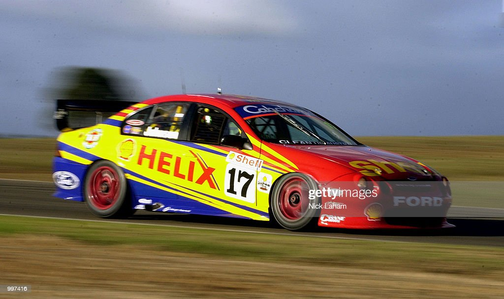 Steven Johnson of the Shell Helix Racing team in action during race 2 of the round 8 Shell Championship Series held at Oran Park race track Sydney, Australia. DIGITAL IMAGE Mandatory Credit: Nick Laham/ALLSPORT