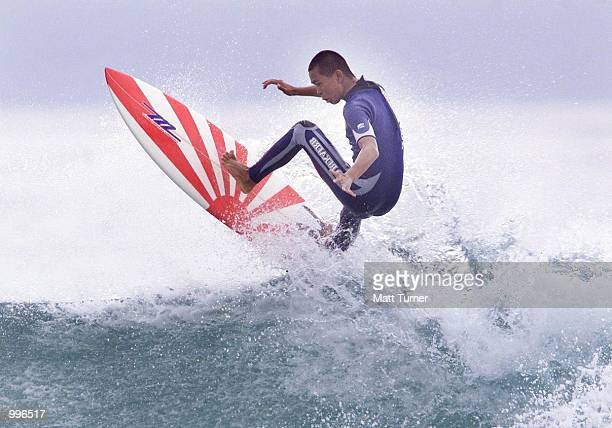 Tatsuya Fukagawa of Japan in action during the Quicksilver World Grommet Surfing Titles being held at Avalon Beach Sydney Australia DIGITAL IMAGE...