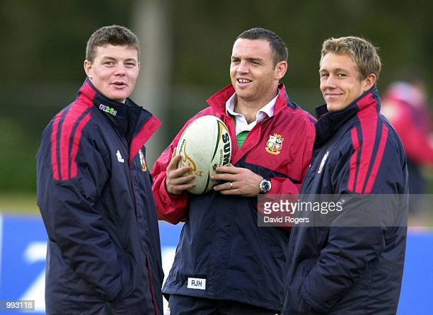 The Lions injured consisting of Brian O''Driscoll Rob Henderson and Jonny Wilkinson watch training in Manly Sydney Australia DIGITAL IMAGE Mandatory...