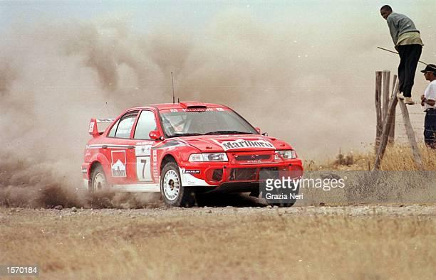 Tommi Makinen driving the Marlboro Mitsubishi Lancer evo VII during the World Rally Championships in KenyaPhoto Germano Gritti / Grazia Neri DIGITAL...