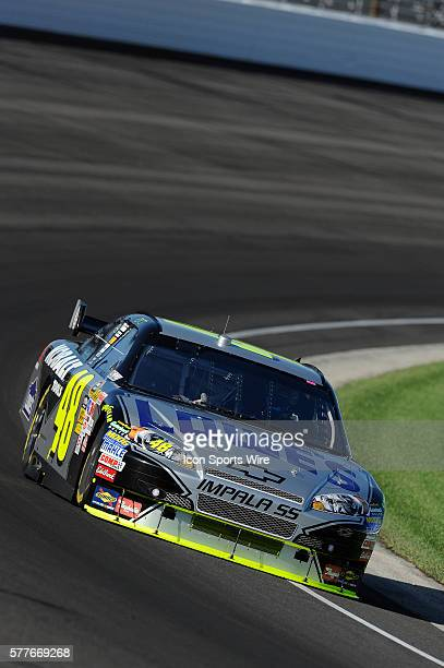 Jimmie Johnson Hendrick Motorsports Chevrolet Impala SS qualified to start in position 16 for the Allstate 400 at the Brickyard NASCAR Sprint Cup...