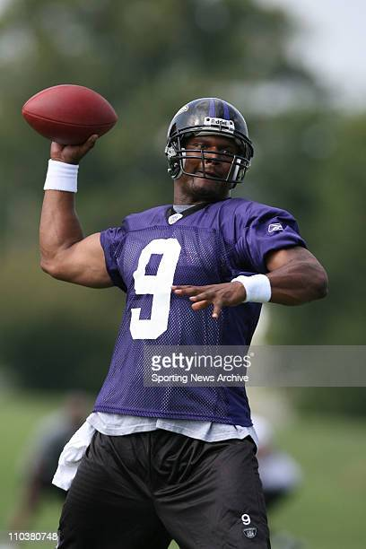 Jul 28, 2006; Westminster, MD, USA; Baltimore Ravens STEVE MCNAIR during training camp on the campus of McDaniel College in Westminster, MD.